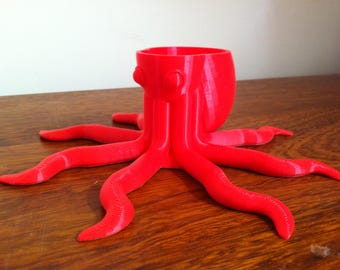 3D Printed Octopus Planter