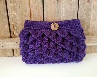 Crochet Clutch Purse / Crochet Purse / Crochet Gift - Purple