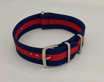 Nato strap to watch in high quality nylon and steel. loop 20 mm