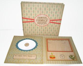 Recipe Scrapbook Album - Family Recipe Scrapbook Album - Premade Recipe Scrapbook Album, Premade Family Recipe Scrapbook Album, Recipe Album