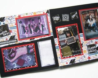 Graduation Scrapbook Pages - Premade Graduation Scrapbook Pages - Graduation Pages - Graduation Scrapbook - Graduation Scrapbook Layouts