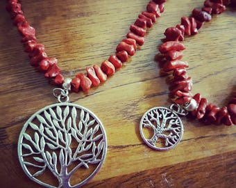 Tree of Life Red Coral set