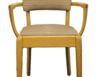 HEYWOOD WAKEFIELD Mid Century Modern Side Arm Chair C3701