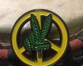 Peace hat pin