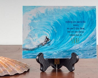 Surfing Waves  Fine Art Heavy Matte Print