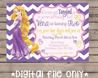 Tangled Birthday Invitation / Rapunzel Birthday Invitation / Tangled Rapunzel Birthday Invitation / Rapunzel Birthday Invite / Printable