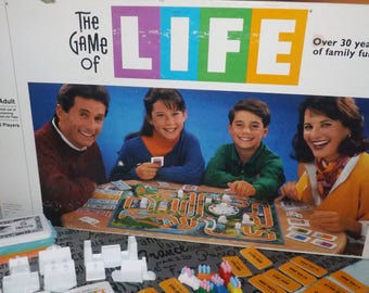 Vintage (c.1991) Game of Life board game published in Canada by Milton Bradley.