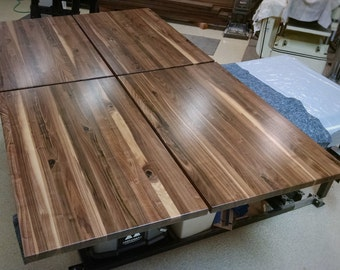 Walnut Butcher Block Table Top Finished // Conference Table, Counter,  Island, Dining