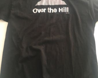 Vintage 80s Over The Hill T Shirt Funny