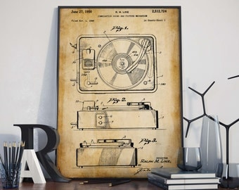 Combination Sound Patent Print  Gift for Musician  Studio Decor  Gift for DJ  Music Poster  HPH277
