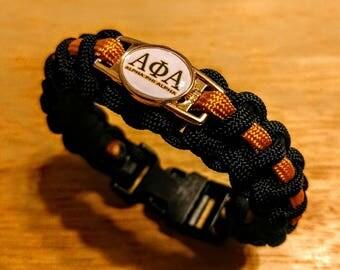 Alphi Phi Alpha Fraternity inspired paracord bracelet