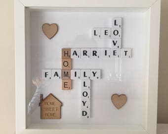 Scrabble Personalised art frame choose your words