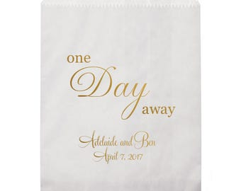 One Day Away Personalized Favor Bags | Sweets Bar | Rehearsal Dinner Favor