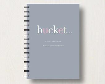 Personalised Bucket List Journal or Notebook