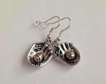 Baseball Glove Earrings, Catchers Mitt EarringsSoftball Glove Earrings, Sports Earrings, Baseball Jewelry, Ships From USA
