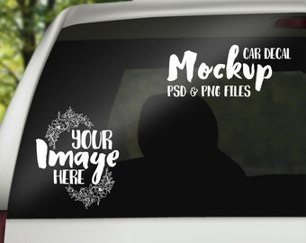 Car Decal mockup template | Digital Download | Stock Photography | Vinyl car graphic template