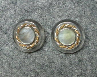 Pair of Vintage MOP Inlay Buttons
