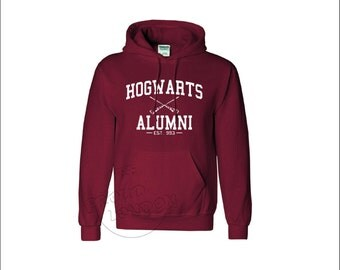Hogwarts Alumni School of Witches and Wizardry Logo Magic School Fashion Unisex Pullover Hoodie Top