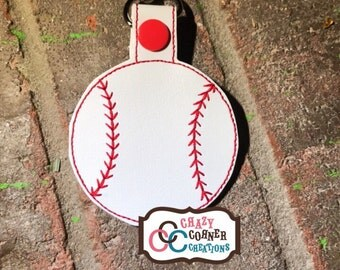 Baseball keychain-baseball bag tag-baseball