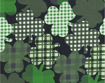 Shamrocks Allover Quilting Cotton by Shason Fabric For St. Patrick's Day, Fabric by the Yard