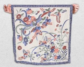 Ladies Neckpiece Japanese Phoenix Chinese Style Scarf Neckerchief