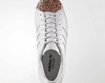Image 3 of adidas Originals Superstar 80s Rose Gold Metal Toe Cap
