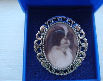 Japanese Chin. Brooch, Pin brooch and Bracelet.  NEW