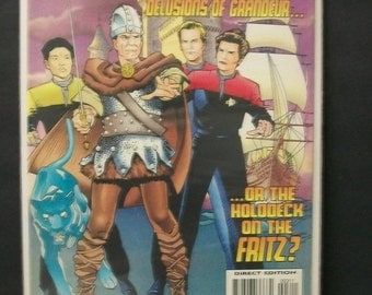 1997 Star Trek Voyager #3  The Doctor Delusions Of Grandeur , Captain Janeway on Cover VF-NM Vintage Unread Direct Edition DC Comics