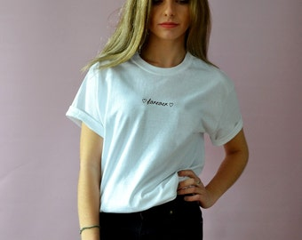 Forever Embroidered tee