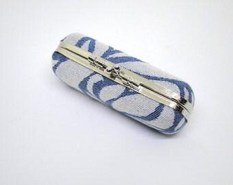 Case - babywearing woven wrap - box, hard case - Dahlia, Jardin de glace (Silver)