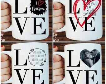 Obsessed Love Ceramic Mugs (Customizable)