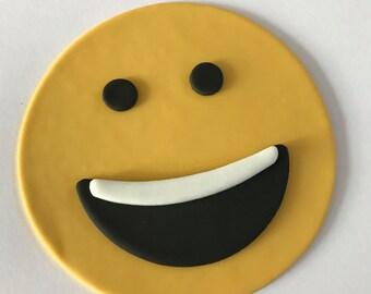 Emoji Smile Inspired Cake Topper-Fondant