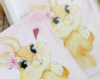 Art print: Disney inspired Miss Bunny from Bambi