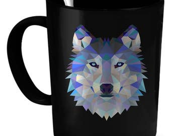 Wolf Coffee Mug 11 oz. Perfect Gift for Your Dad, Mom, Boyfriend, Girlfriend, or Friend - Proudly Made in the USA! Wolf gift