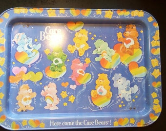 Care Bears TV Snack Tray Folding Legs 1983, 80s Cartoon, American Greetings, FREE SHIPPING, Beary Good Condition