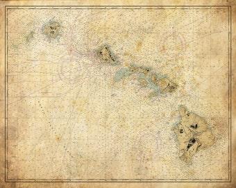 Hawaii Map - Print - Poster