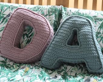 Personalised Cushion, Initial cushion, Alphabet Cushion,Handmade Cushion, Gift for her, nursery decor