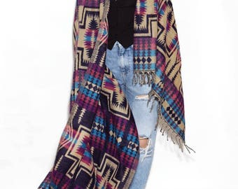 Dark violete scarf, long scarf, big scarf, huge scarf, large scarf, wool scarf, warm scarf, blanket scarf, shawls and wraps, blanket scarves