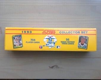 Baseball Cards Collector Set // 1990 Score Collector set // MLB Cards Complete Collector Set // Unopened Score MLB 1990 Collector Set