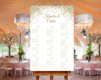 Let's Celebrate Printed Seating Chart
