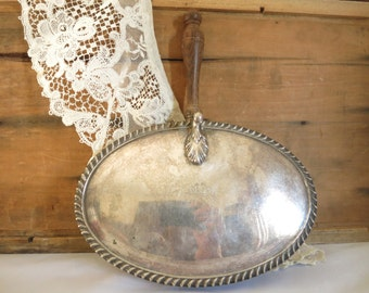 Vintage Silver Crumb Catcher Silver Plate Silent Butler Crescent Silver Made in USA Vintage Storage Cottage Chic