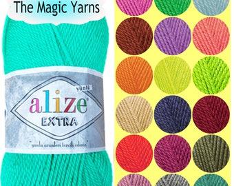 SOCKS YARN EXTRA  by Alize, acrylic wool yarn, crochet yarn, knitting yarn, Light Worsted, dk, 8 ply