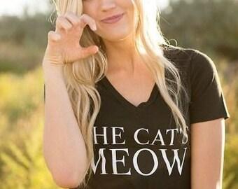 CAT'S MEOW Cat Ladies V-neck Tee