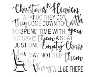 Christmas in Heaven Digital Cutting File SVG- Digital Cutting Design- svg dxf jpg pdf Vector File Graphic Design Instant File