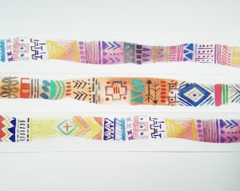 Design Washi tape pattern stained