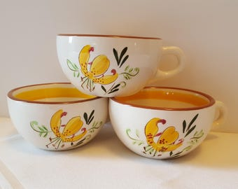 Stangl Tiger Lily Tea Cups (3) #3965