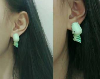 Dinosaur polymer clay handmade earrings