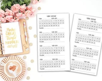 habits tracker printable planner insert - Filofax personal - Kikki K Medium - print at home - planner refill