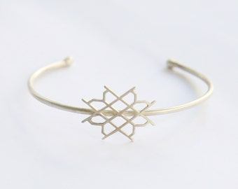 minimal bracelet - cuff bracelet - laces - bangle sterling silver 925