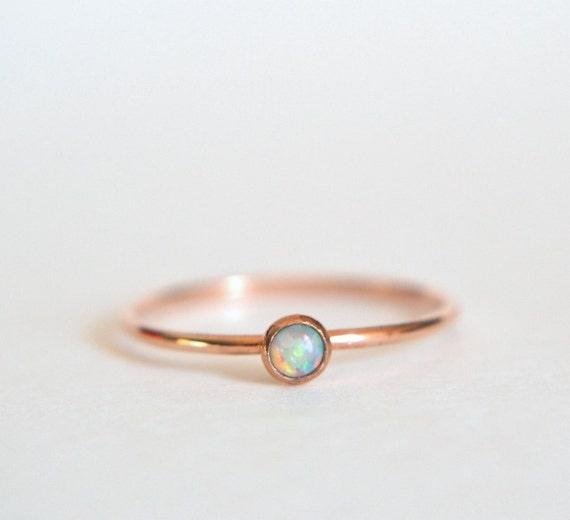 14k Solid ROSE Gold Opal Ring 14k Rose Gold Opal Ring Opal